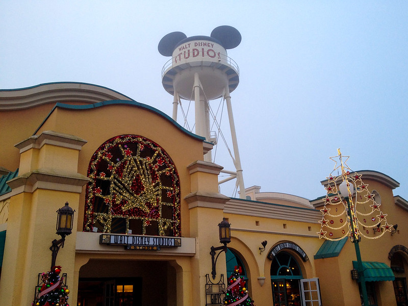 Walt Disney Studios Water Tower at Christmas