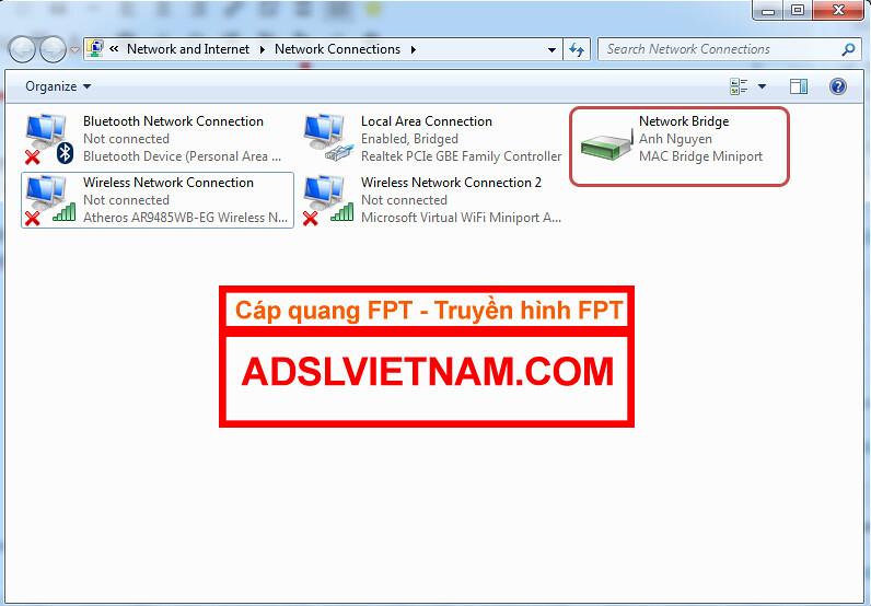 Hướng dẫn phát wifi trên laptop win 7 - Cáp quang FPT - Lắp