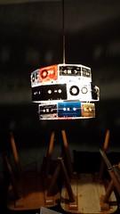 Lampe aus Kasetten