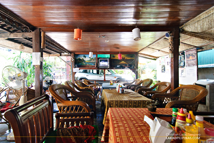 Happy Guesthouse Restaurant Area in Siem Reap