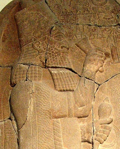 Esarhaddon's portrait on stone stele, commemorating victory in northern ancient Egypt