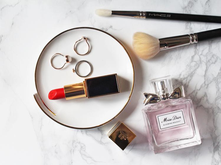 Tom Ford Lipstick Dior Flatlay