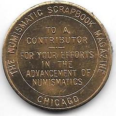 Numismatic Scrapbook Contributor's Medal Common reverse 001