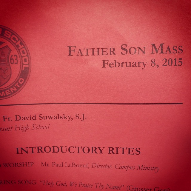 Jesuit High School Father Son Mass