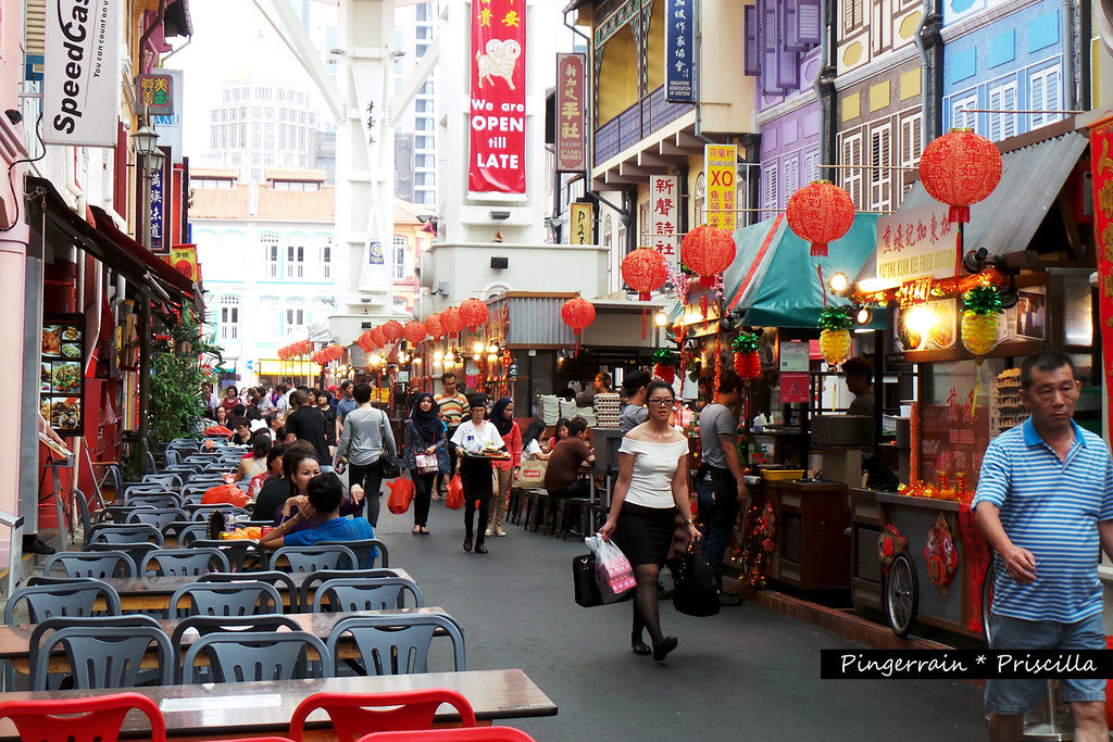 Chinatown Food Street during the day