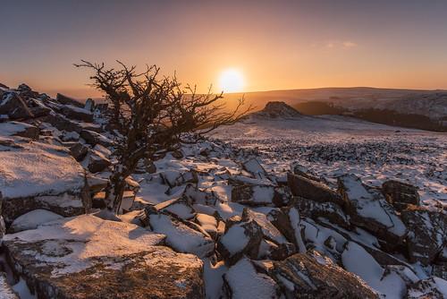 winter snow sunrise devon dartmoor 1635mm burratorreservoir dartmoornationalpark sharpitor leathertor nikond750