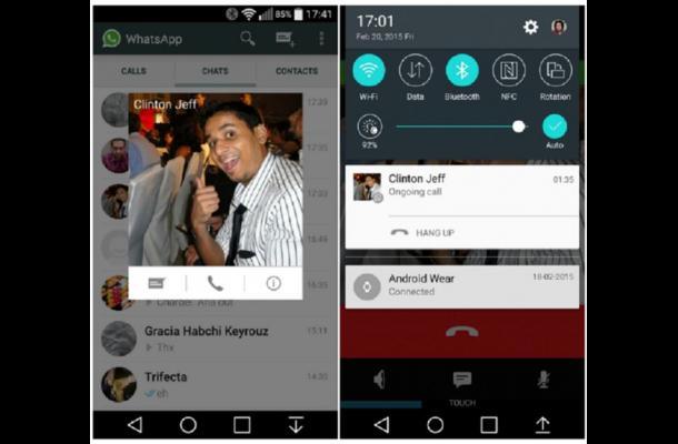 WhatsApp comenzó a habilitar las llamadas gratuitas en teléfonos Android