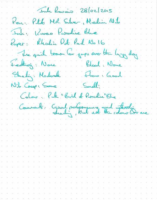 Kaweco Paradise Blue - Rhodia Dot Pad