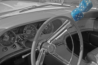 Ford Thunderbird 1962 dashboard B&W+SC (9575)