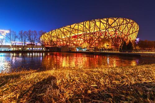 beijing sunsets 北京 birdsnest nationalstadium 北京國家體育場 鳥巢體育館