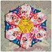 Hexagon flower - free pattern coming soon by Sewing Under Rainbow