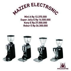 Penggiling Kopi Mazzer Electronic  Ketersediaan terbatas.