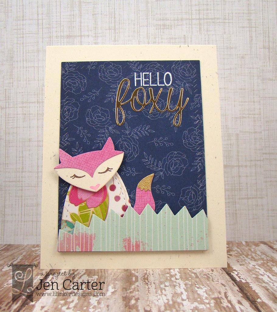 Jen Carter Pink Hello Foxy Front wm