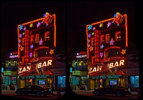 Toronto Night Club 3D ::: HDR/DRi CrossEye Stereoscopy