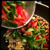 Cucina Dello Zio #homemade #pork #peppers and #paprika #CucinaDelloZio - Add red and green peppers