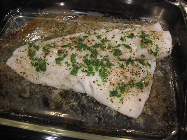 Baked Fish with Butter & Sherry