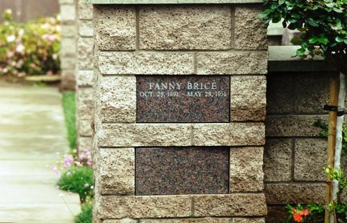Fanny Brice, new grave