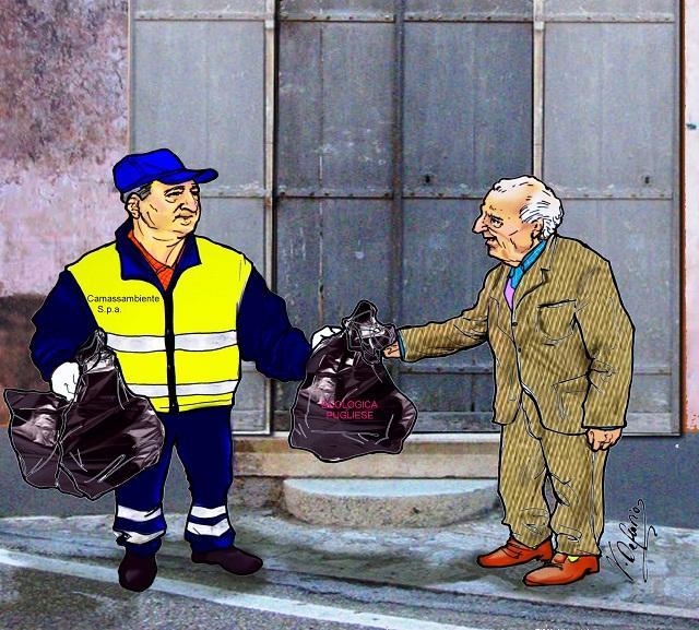 Noicattaro. Vignetta nuova ditta rifiuti intero