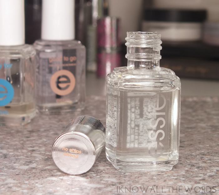 essie top coat comparison- essie no chips ahead