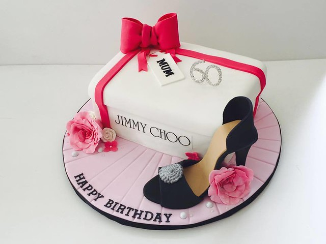 Raspberry and White Chocolate Cake with Champagne Buttercream with 100% Edible Shoe by The Cake Revolution