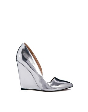asos polished pointed wedges silver
