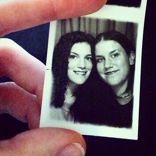 Day 18: Fifteen years ago  #decemberreflections #TBT  We were 24 and 18 and just had our eyebrows pierced.