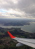 Flying in to A Coruna