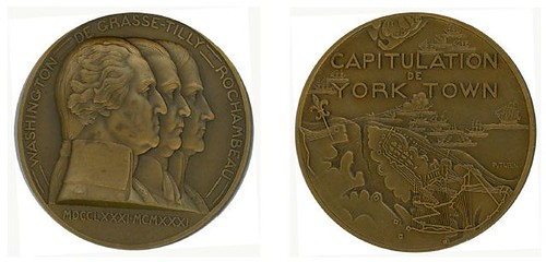YORKTOWN SESQUICENTENNIA, medal