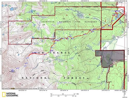 Mt. Massive East Ridge - Topographic Map