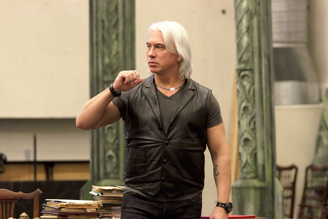 Dmitri Hvorostovsky in rehearsal for Un ballo in maschera, The Royal Opera © ROH. Photograph by Catherine Ashmore, 2014