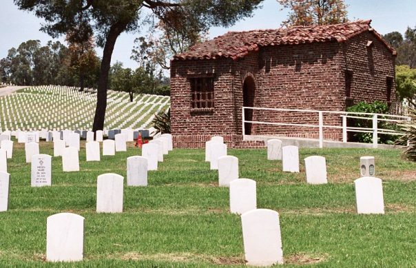 graves and building
