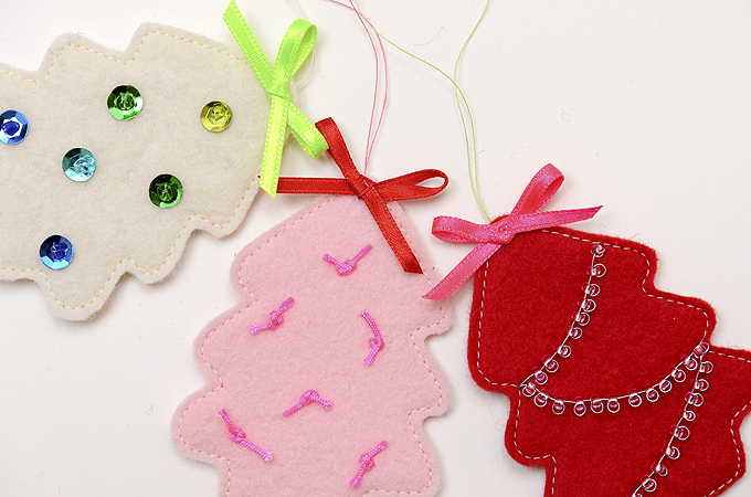 Mini Tree Ornament Tutorial