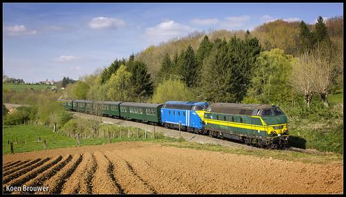 pft tsp hld 62 diesel reeks nmbs infrabel station gare bahnhof zug train trein sunny april 2014 louisemarie koenbrouwer koen brouwer