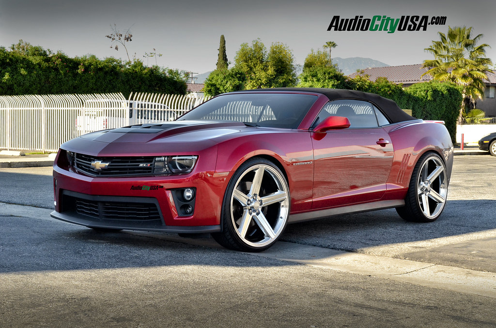 2014 Chevy Camaro Zl1 On 24 Quot Iroc Chrome Wheels