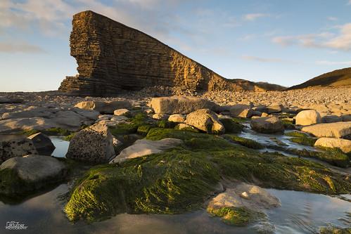 sunset sea cliff sun seascape seaweed beach wales canon landscape coast landscapes coastal coastline goldenhour valeofglamorgan rockpools nashpoint jaketurner canon5dmarkiii jrturnerphotography