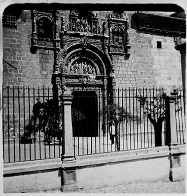 Hospital de Santa Cruz en 1900. Fotografía de Augusto T. Arcimis © Fototeca del IPCE, MECD. Signatura ARC-0701_P