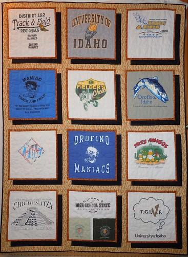 T-shirt Memorial Quilt