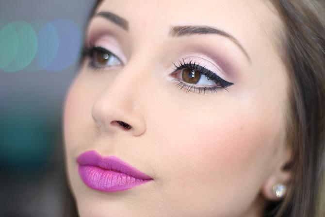 05-maquiagem fácil para festa no fim do dia sempre glamour batom lilás luminoso avon