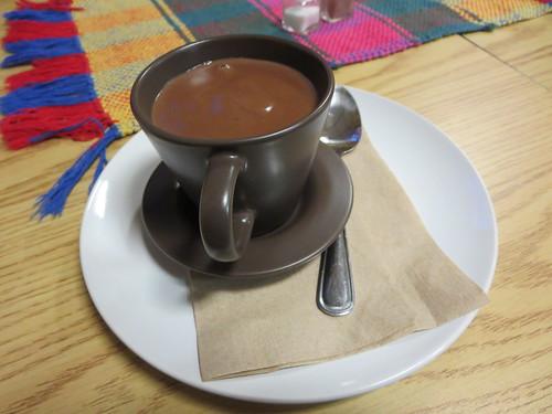 Hot chocolate con queso blanco