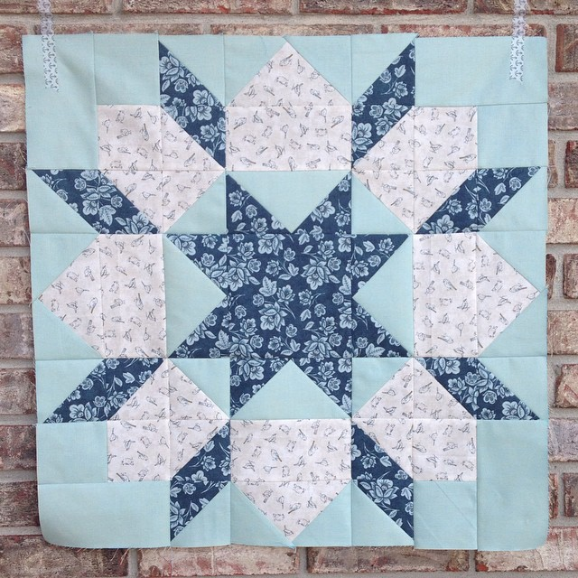 Swoon block no. 7 done! 💙 #persimmonswoon #thimbleblossoms #showmethemoda