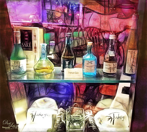 Image of bottles at Takeya Steak House in Ormond Beach, Florida
