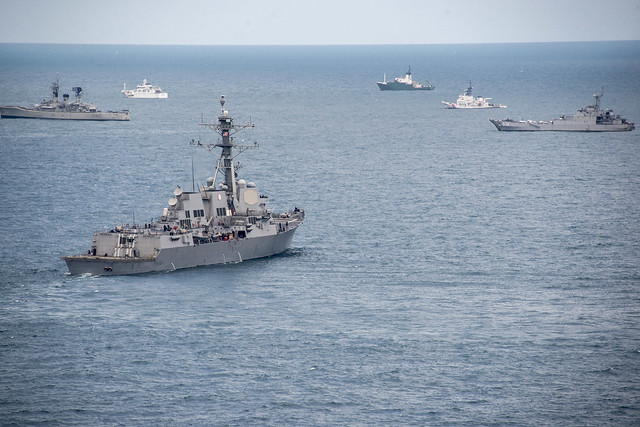 USS Sampson Conducts Search Operations