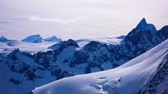 Widok ze  szczytu Pigne d Arola  3796m. Matternhorn.