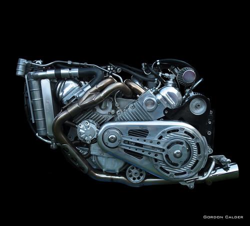 No 124: HOME BUILT 1,700cc V8 ENGINE, WITH RELIANT ROBIN HEADS