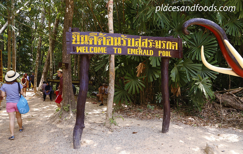 krabi emerald pool welcome sign