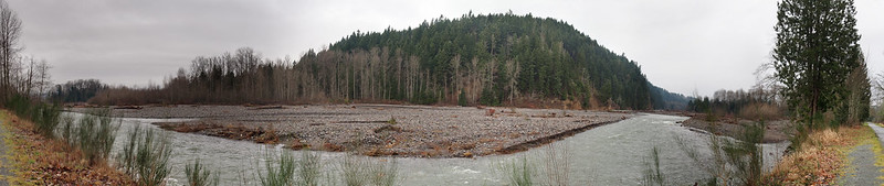 Carbon River: A frequent view for those who use the Foothills Trail.