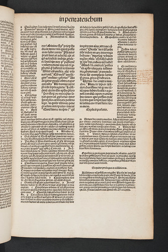 Marginal comment with provenance information in Biblia