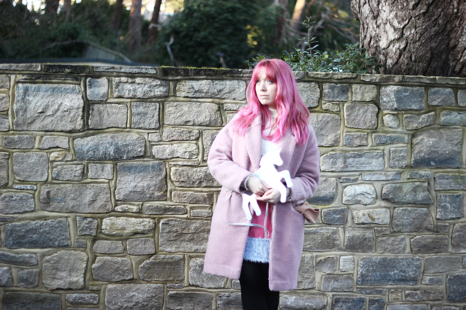 6-pink-hair-unicorn, pastel hair, blogger-outfit