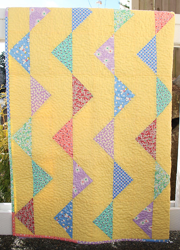 Bunting Baby Quilt in 30's Feedsack Prints