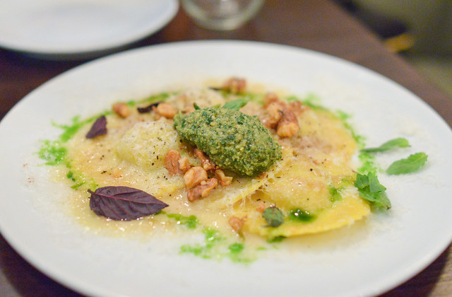 POTATO LEEK TORTELLI parmigiano-reggiano, walnut pesto
